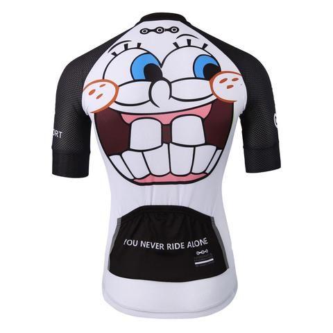 Crazy Emoji White Cycling Jersey