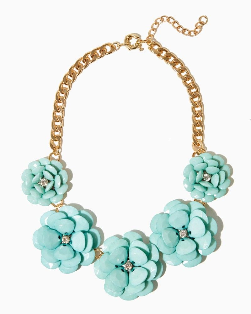 charming charlie Flora Fte Statement Necklace UPC 450900350581