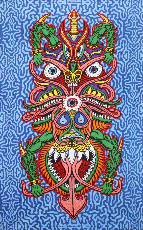 Sunshine JoyR 3D Boogieman Tapestry Hanging Wall Art Beach Wrap