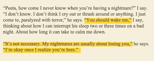 A quote from Catching Fire (second book of Hunger Games)