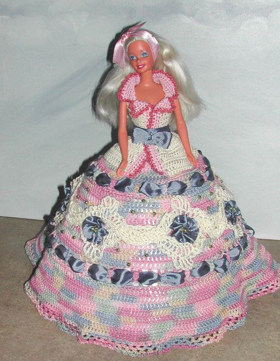 Crochet Fashion Doll Barbie Pattern- #682 DESIGNER ORIGINAL #10 ...