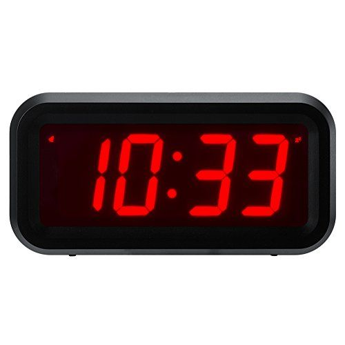 Chaorong Small Wall Shelf Desk Digital Clock Only Battery Operated With 12 Large Display 4pcs Batterie Small Wall Shelf Digital Clocks Large Digital Wall Clock