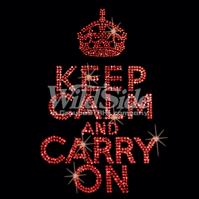 Keep Calm And Carry On Sequinscarry On Crown Keep Calm Sequin