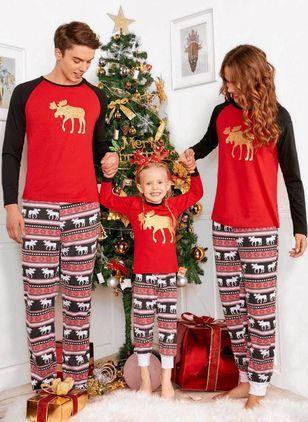 cd828478fe Boys  Christmas Print Daily Long Sleeve Clothing Sets