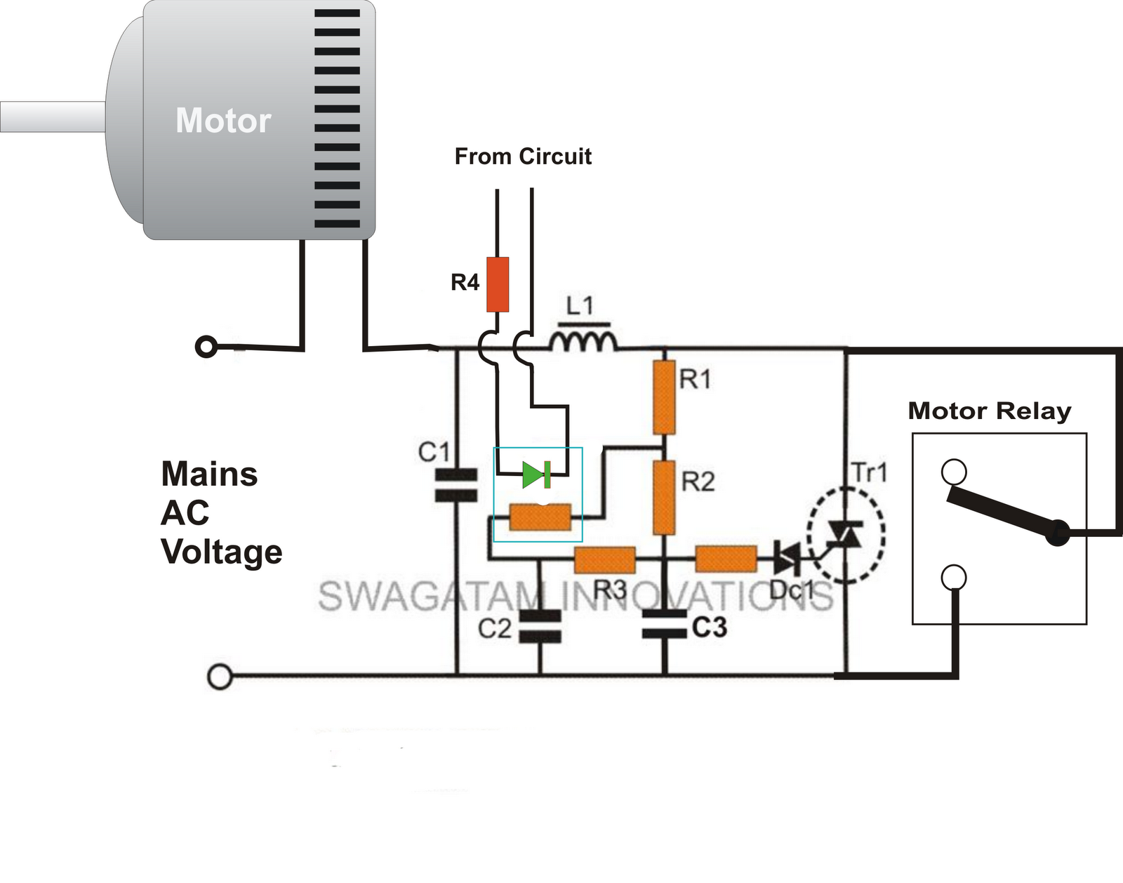 Tutorial Switches And Relays Electronic Circuits Diagram When Heavy Motor Systems Or High Current Motors Are Involved Initial Switch On Surge Often Becomes An Issue This Tends To I