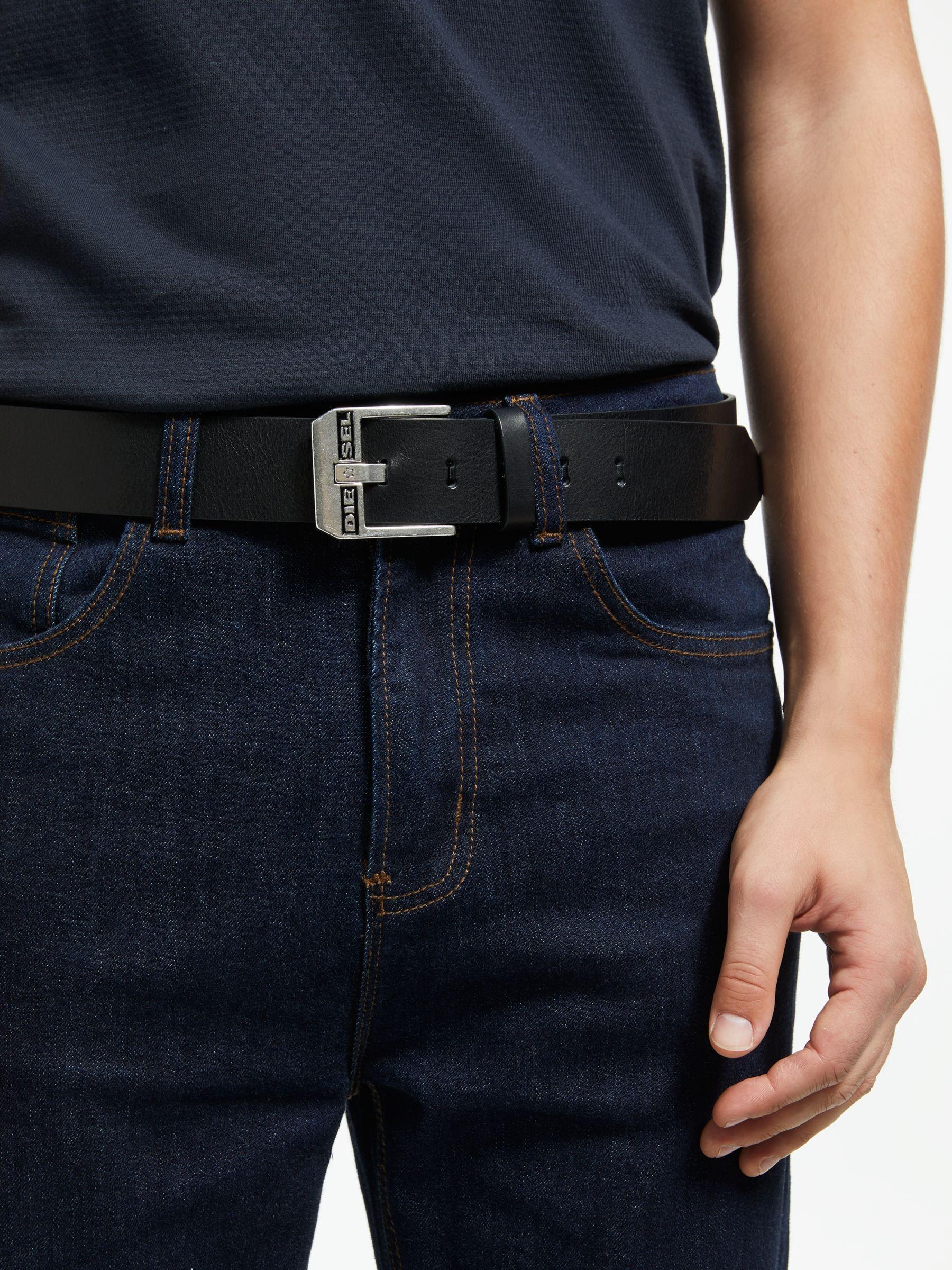 Diesel Bluestar Cintura Leather Belt Black Leather Diesel
