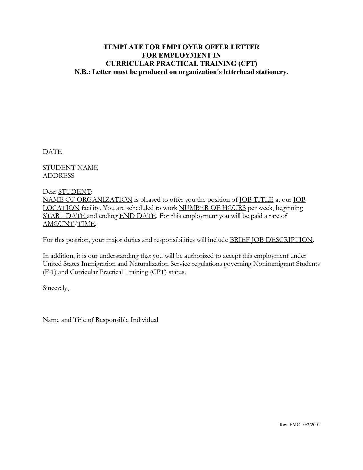 new deployment letter to employer