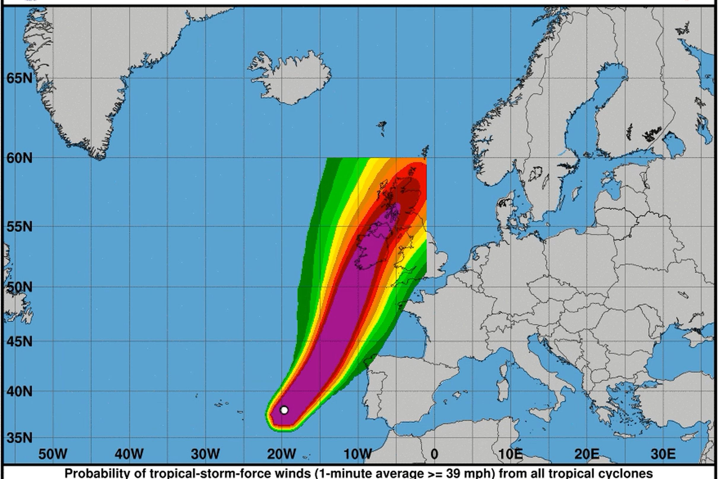 Storm Ophelia Was So Unusual It Was Literally Off The Charts Storm Hurricane Tropical Storm
