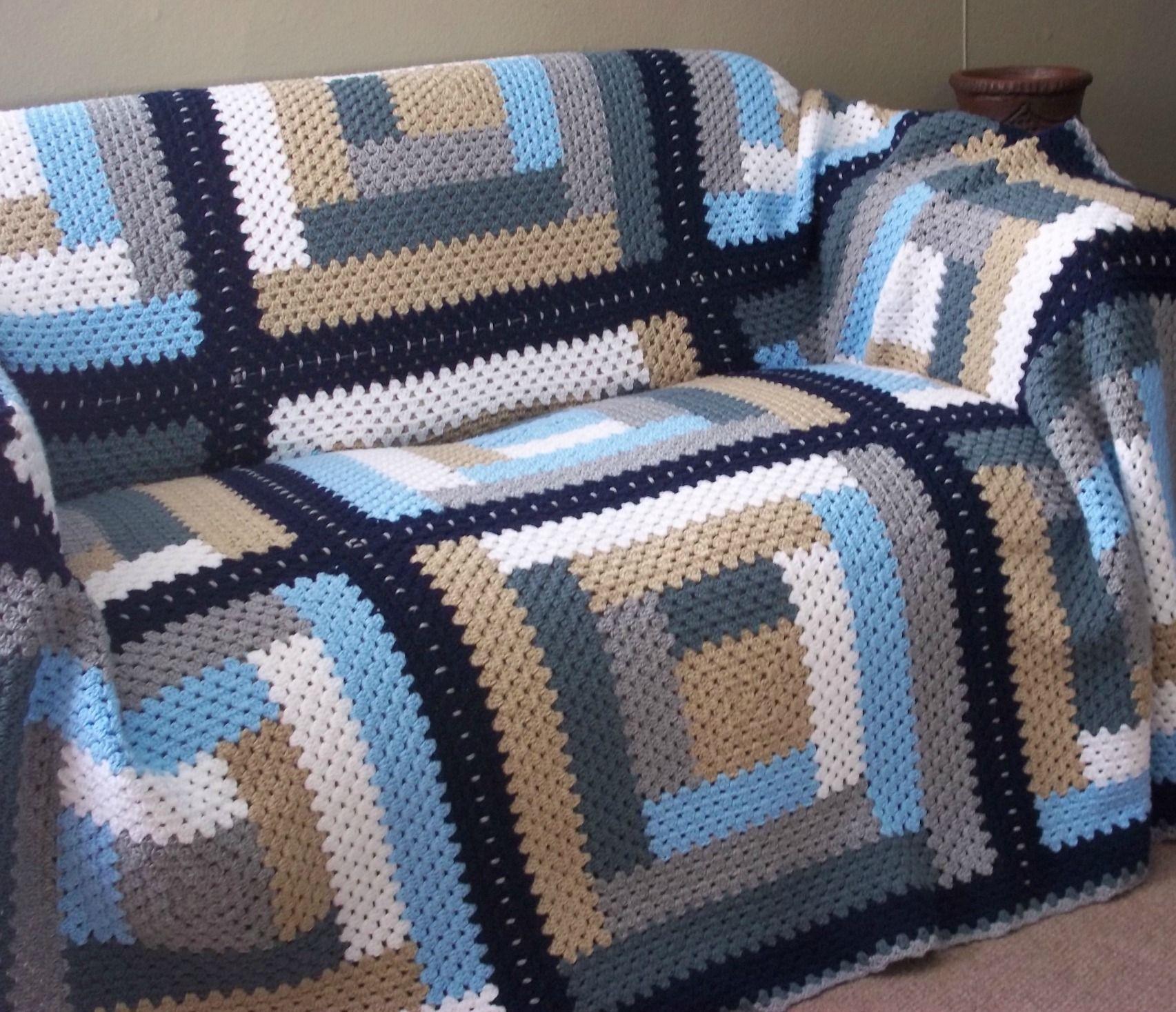 Log cabin afghan crochet blankets pinterest cabin for Log cabin blanket