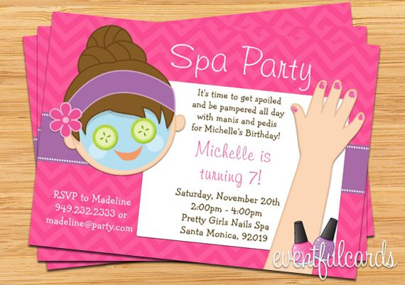 Mani Pedi Spa Party Invitation