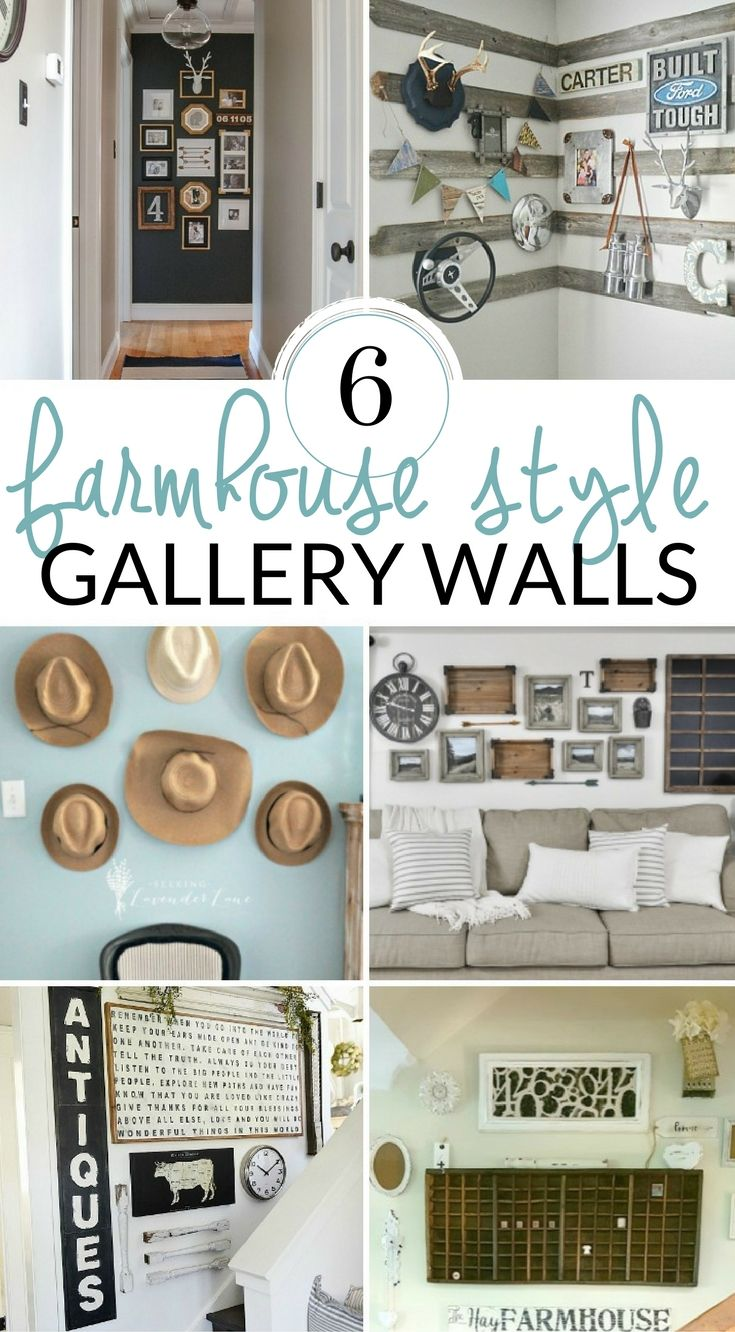 Fill your empty walls with these DIY farmhouse wall decor ideas. Try a DIY wall art piece create a farmhouse gallery wall or style farmhouse shelves.  sc 1 st  Pinterest & DIY Farmhouse Wall Decor Inspiration | Pinterest | Farmhouse wall ...