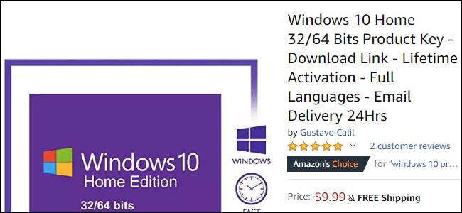 windows 10 home product key free
