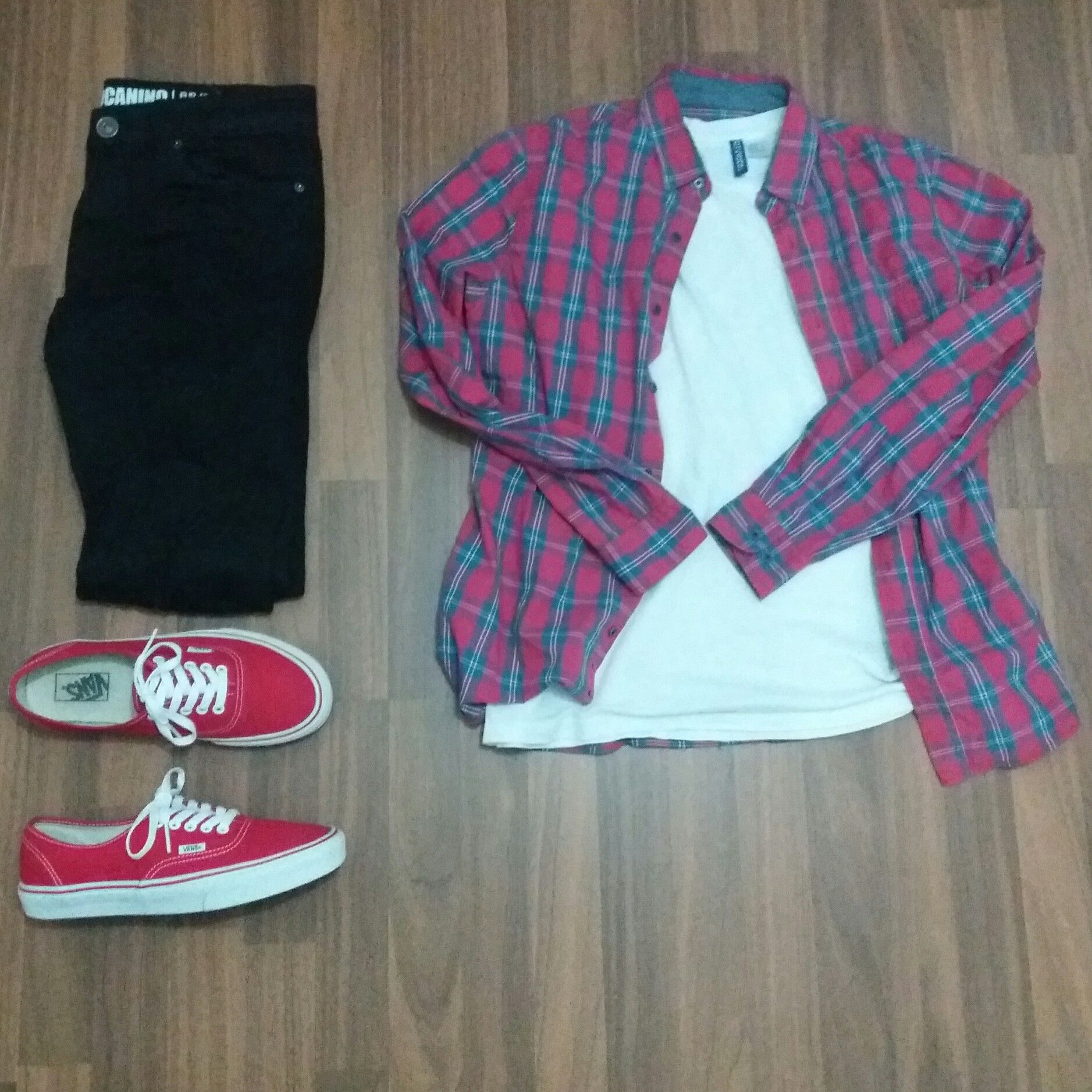 Vans authentic red outfit men | Red vans outfit, Vans outfit