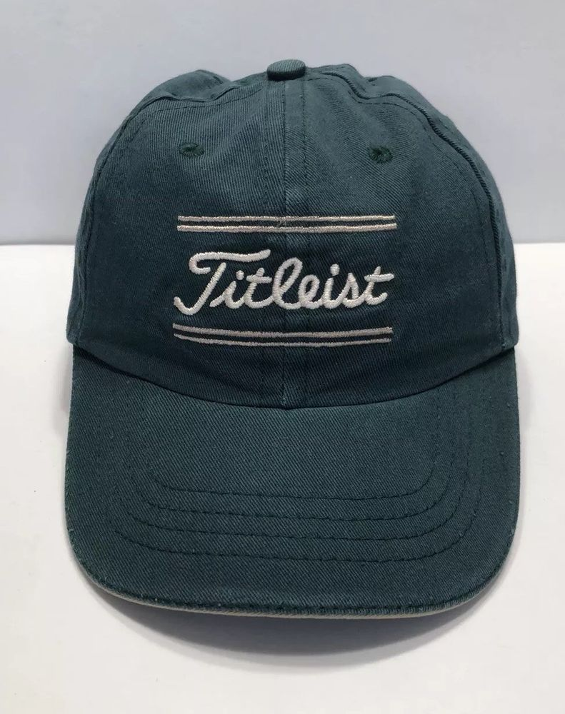 a3986e44c1d Titleist Golf Cap Hat Adjustable Youth 100% Cotton Green
