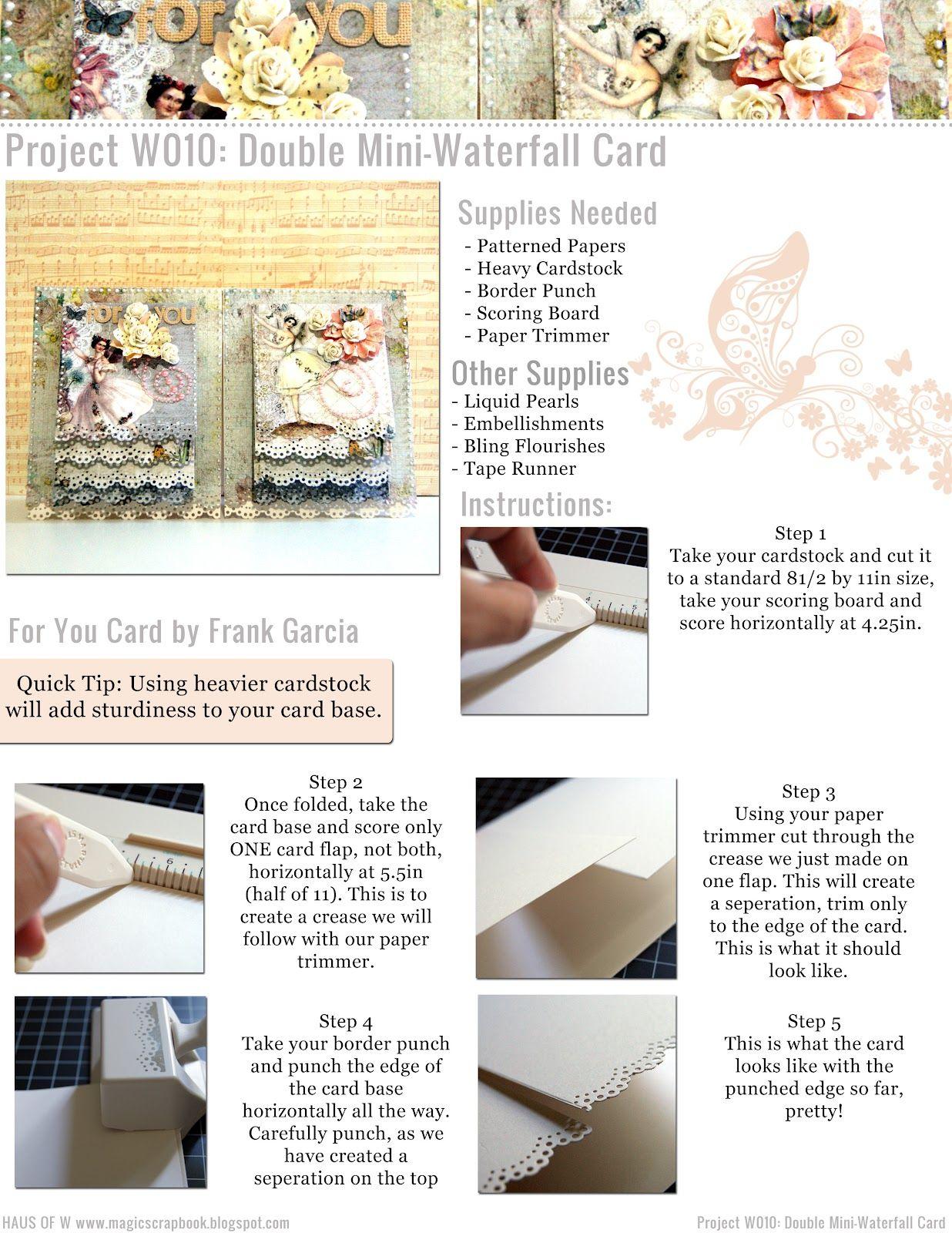 Haus Of W: Projeto W010: Duplo Mini-Cachoeira Cartão