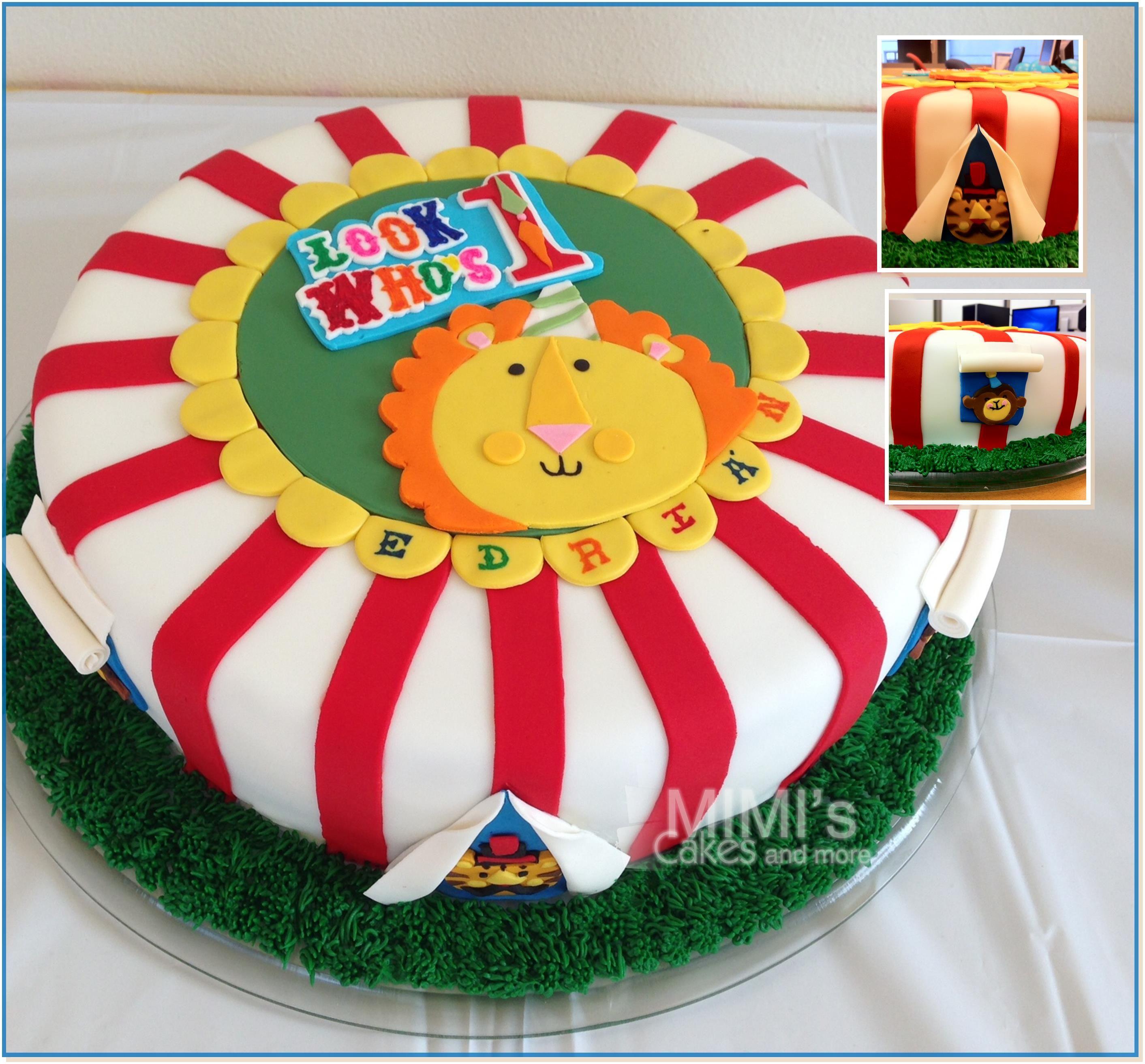 Terrific Fisher Price 1 Birthday Cake With Images Circus Birthday Cake Personalised Birthday Cards Beptaeletsinfo