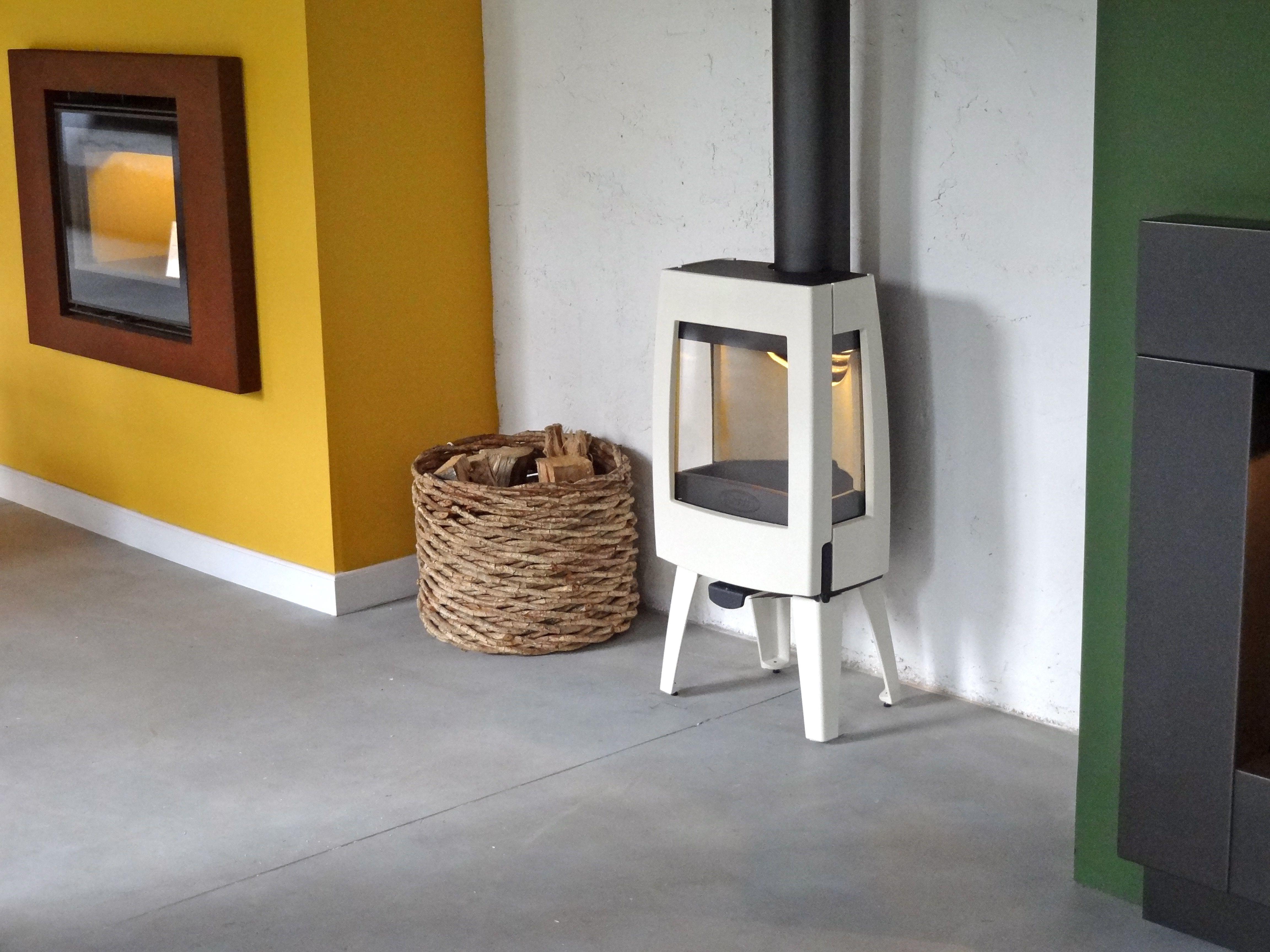 Estufa Dovre SENSE 103 Esmaltada crema en Ideas de Fuego