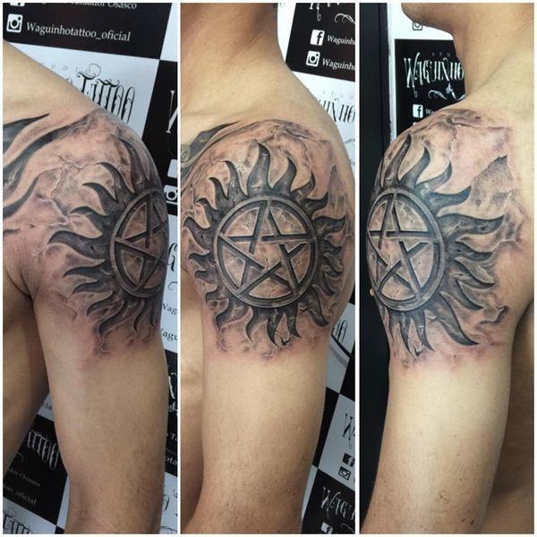 Shoulder Pentagram Tattoo From Supernatural Tatoo