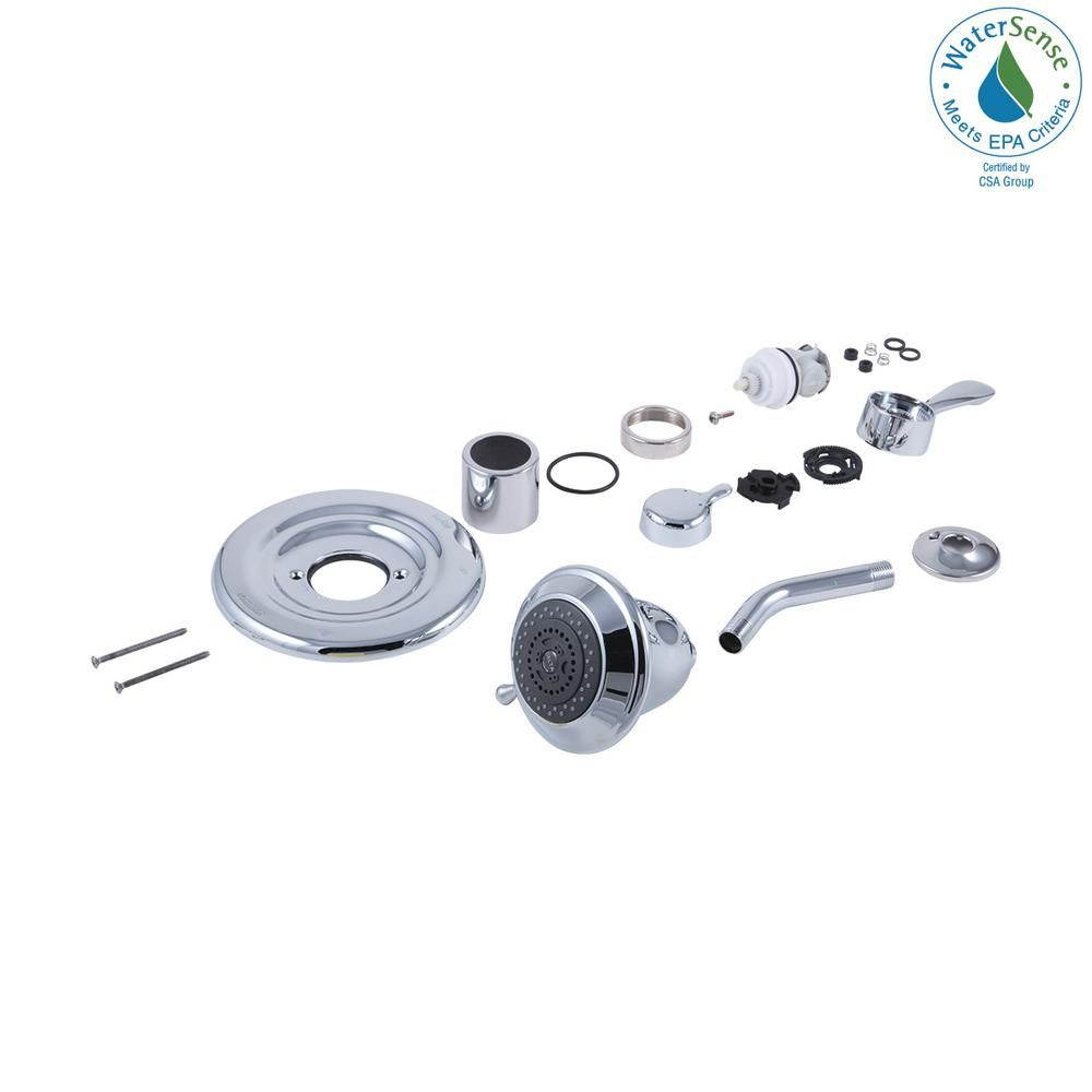 Delta 7 In Shower Conversion Kit In Chrome Grey Delta Faucets