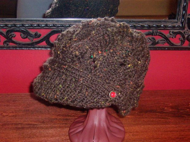 Newsboy Peak Knitted Cap Tricot Free Pattern And Patterns