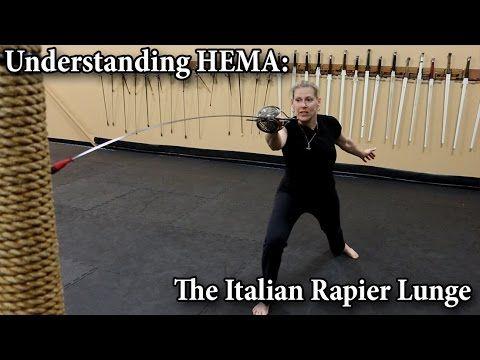 46) The Italian Rapier Lunge - Understanding HEMA - YouTube