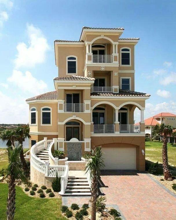 Casa De Tres Pisos Casas Antiguas Casas Bonitas Casas Mansiones