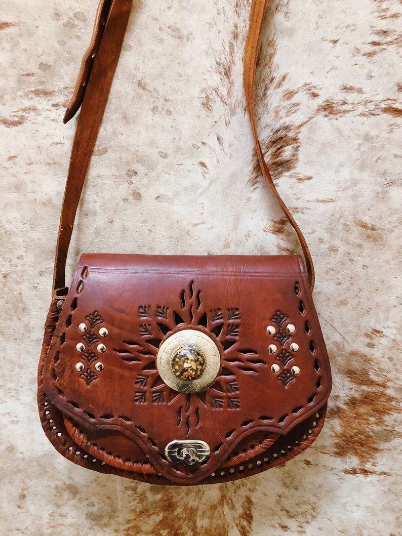 Boho Leather Crossbody Purse