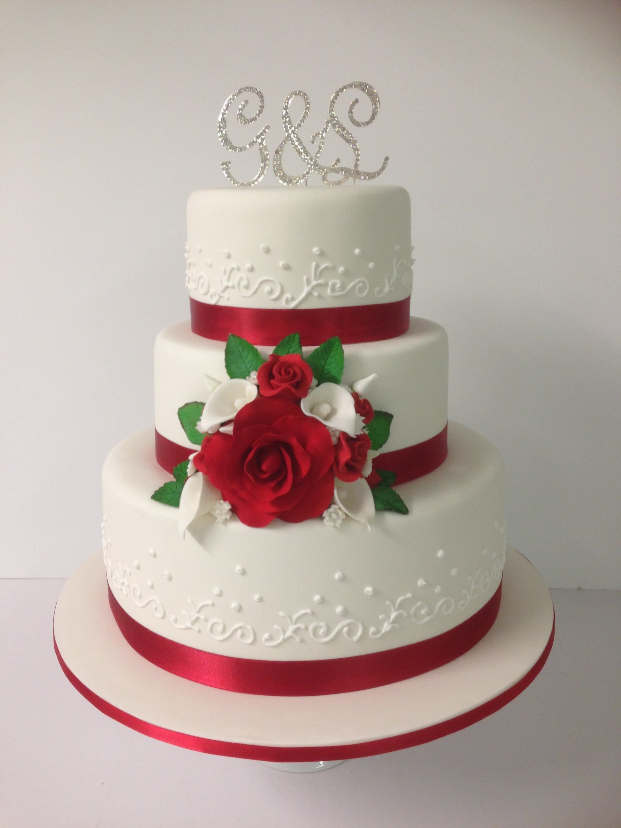 Awesome Red And White Wedding Cakes 7 3 Tier Red And White