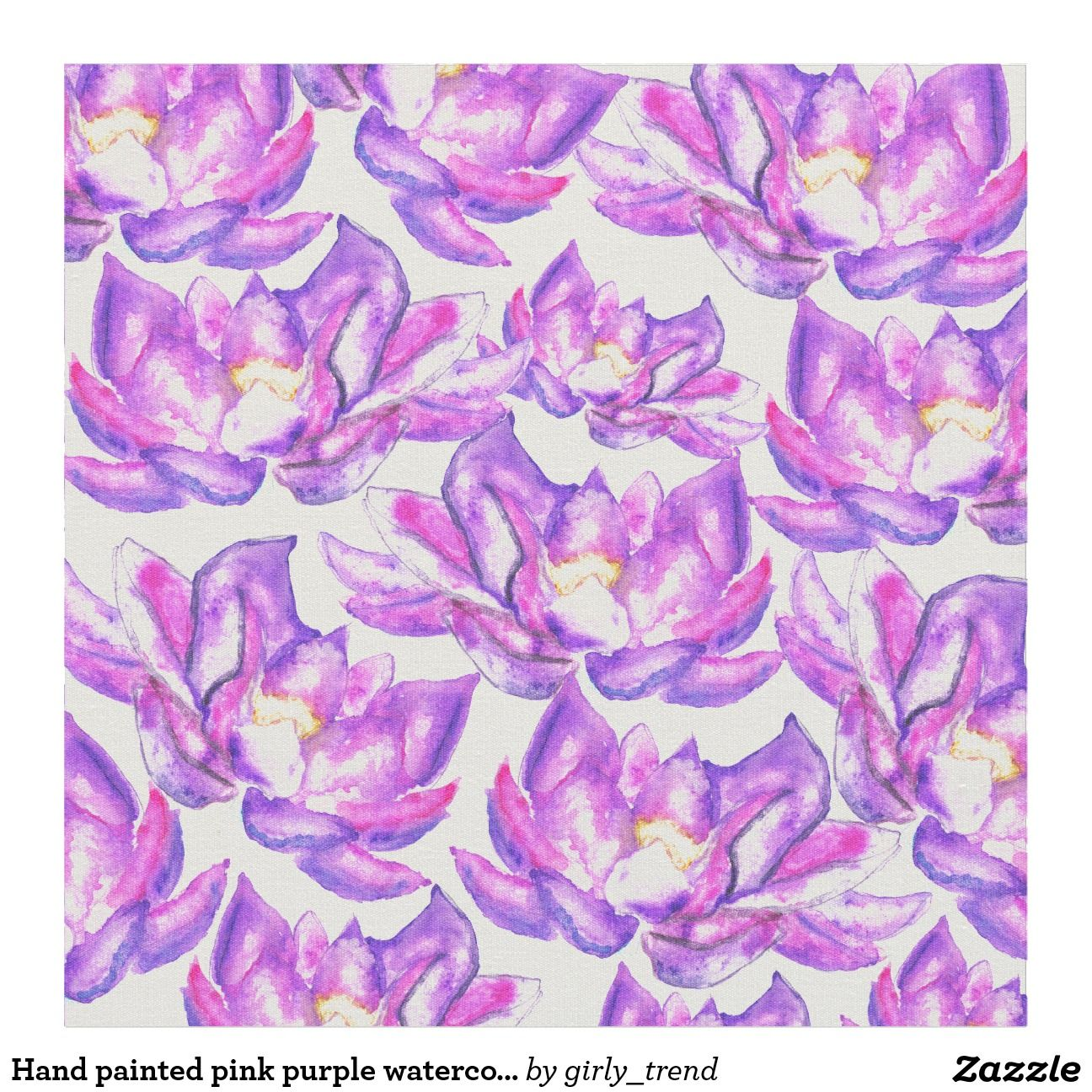 Peach Pink and Purple Wildflower Fabric by the Yard