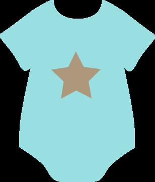 Brown Star Onesie Clip Art Brown Star Onesie Image Free Baby Shower Printables Baby Scrapbook Baby Clip Art