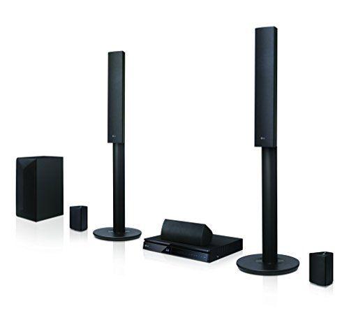 LG LHA745 5.1 sistema de cine en casa Blu-ray 3D (1000 vatios, Smart TV, DLNA…