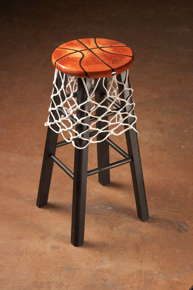 Awesome Basketball Themed Stool I Donu0027t Even Care About Any Sport, But This  Piece Of Furniture Is Very Cool!