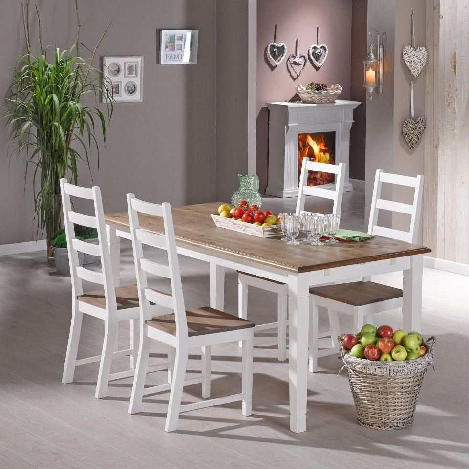 Dänische Küchenmöbel esstisch 85x140 landhausstil erweiterbar dänisches