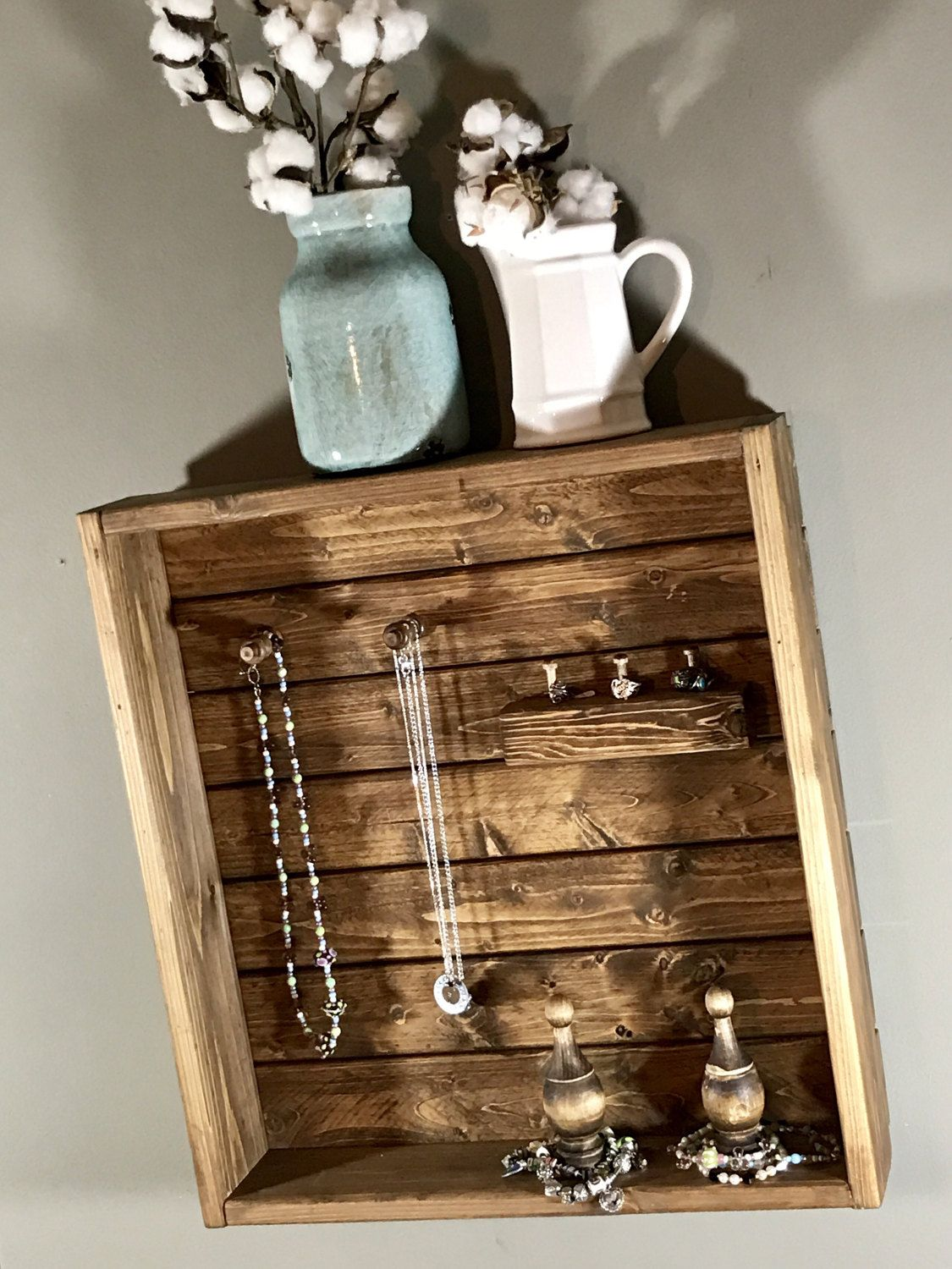 Jewelry Organizer Jewelry Holder Necklace Holder Organizer Wall