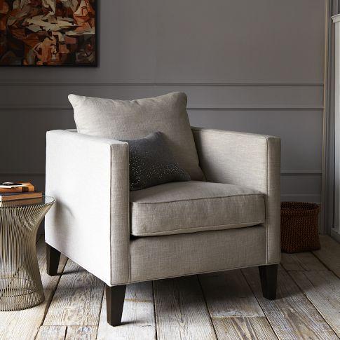Perfect Dunham Down Filled Armchair   Toss Back | West Elm
