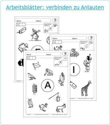 arbeitsbl tter verbinden zu anlauten schule deutsch schule f rderschule und. Black Bedroom Furniture Sets. Home Design Ideas