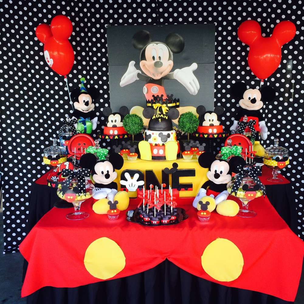 mickey mouse birthday party ideas anniversaire mickey. Black Bedroom Furniture Sets. Home Design Ideas