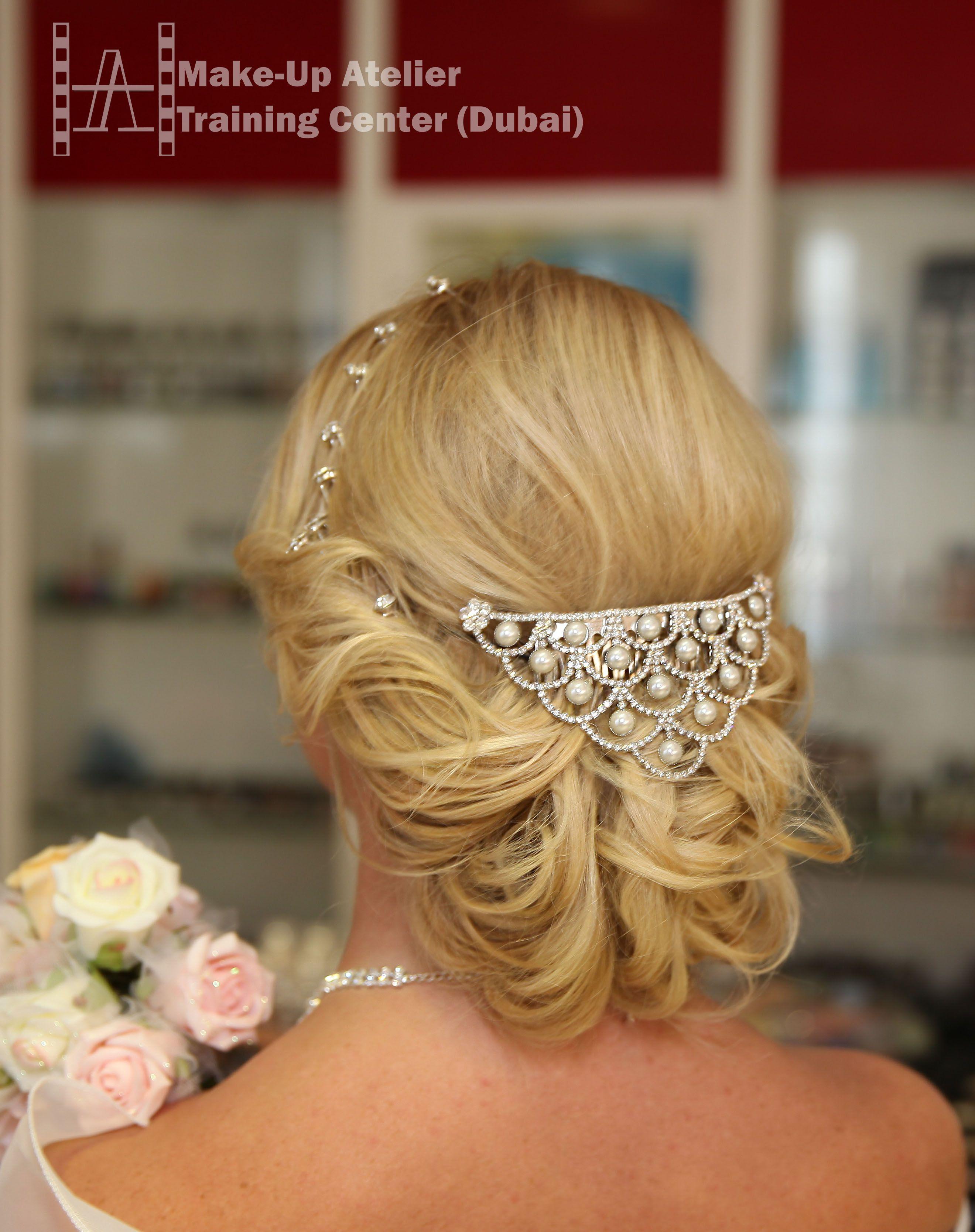 make-up atelier training center, dubai / bridal hairstyle