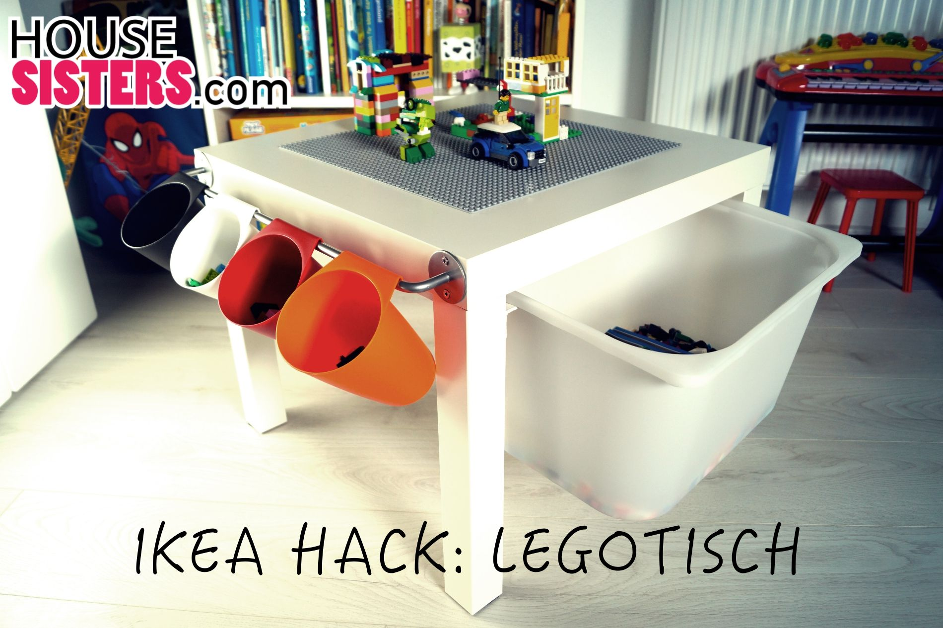 housesisters hack diy ikea kinderzimmer hack aus dem ikea lack tisch wurde ein lego tisch f r. Black Bedroom Furniture Sets. Home Design Ideas