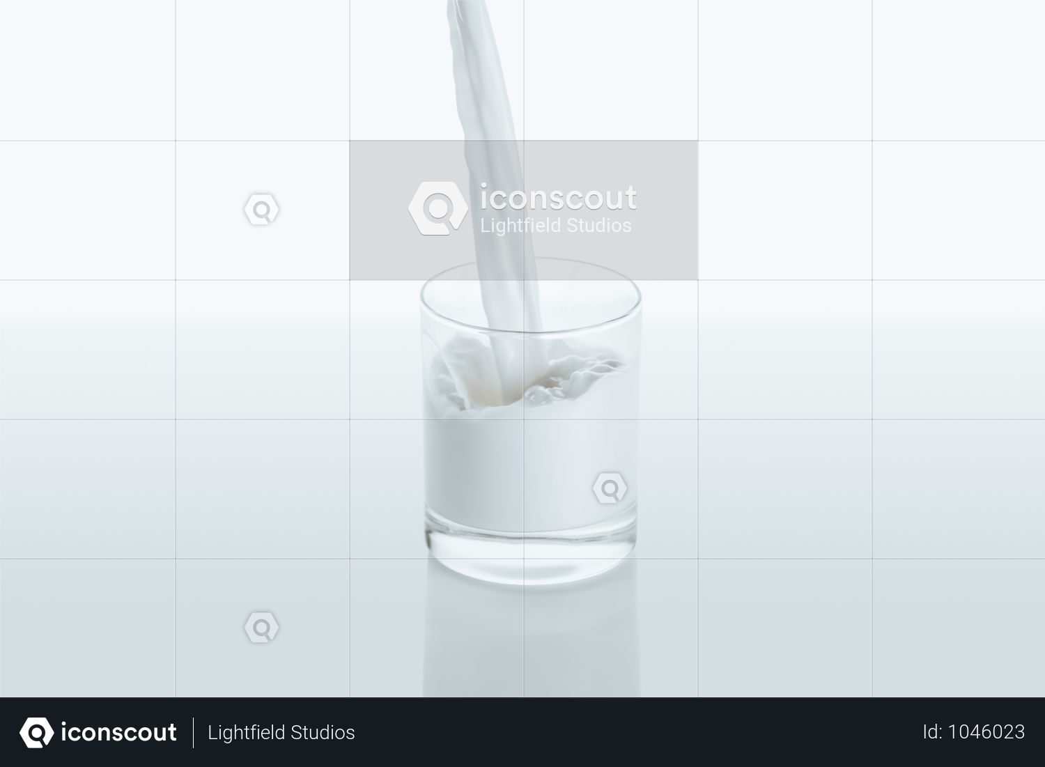 Premium Milk Pouring Into Glass On White With Reflection Photo Download In Png Jpg Format Reflection Photos Glass Milk