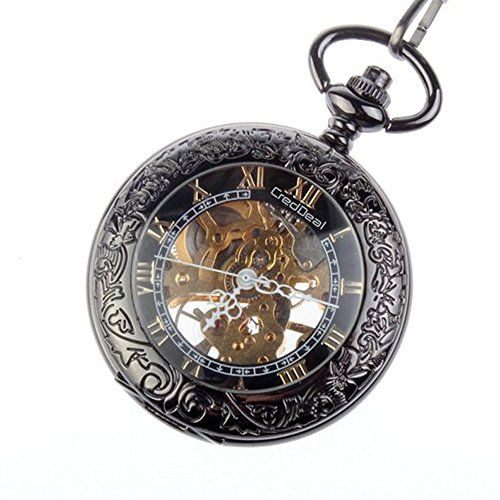 Taschenuhr Steampunk Pocket Watch Pendant Roman Number Half Hunter - Antiqued Silver Black PW039 8M http://www.amazon.de/dp/B00BIXNAGY/ref=cm_sw_r_pi_dp_wnBIvb15T1DBP