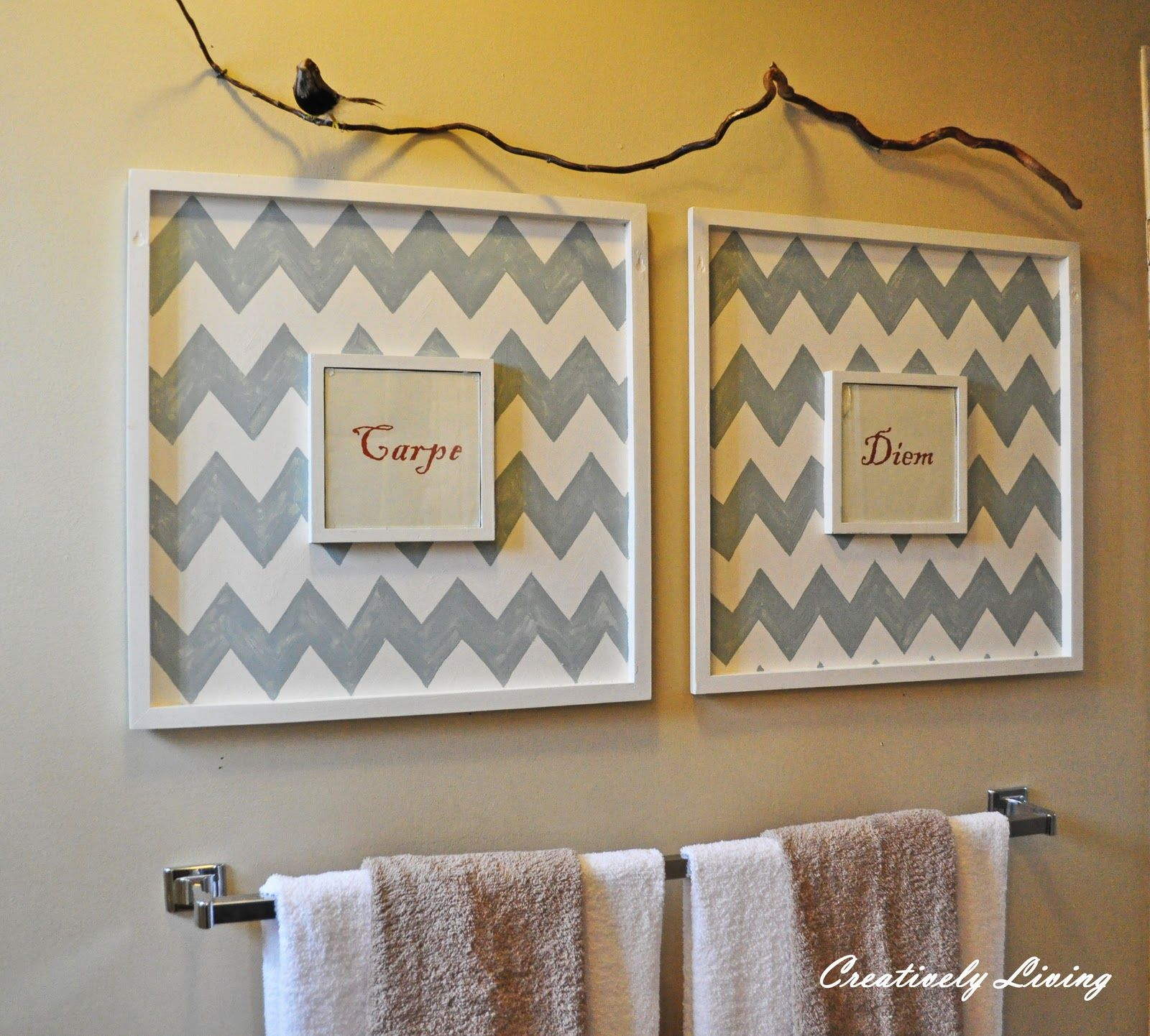 Ordinaire Bathroom Wall Art   Creatively Living Blog