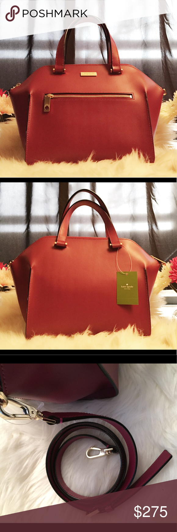 252ffc59b2c4 Kate Spade Savannah Parliament Square Brand New Authentic Kate Spade Plum  red color. Top zipped