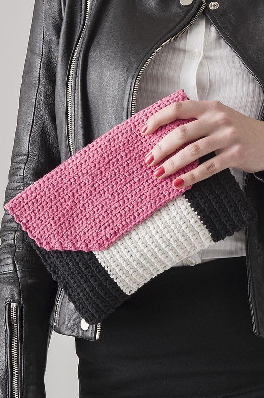 Virkattu laukku Novita Kaisla | Novita knits