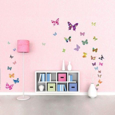 Farfalle adesivi per pareti wall stickers 5 cameretta for Design delle camere dei bambini