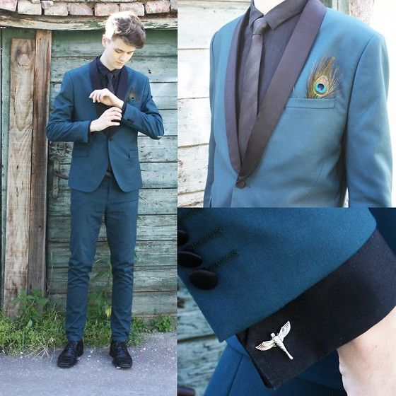 ff0dbdfe83ea4 Peacock feather instead of a pocket square! | Fashion in 2019 ...