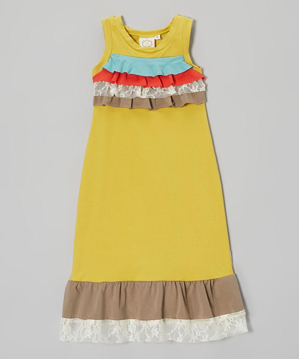 Green antique bouquet lace maxi dress toddler u girls daily