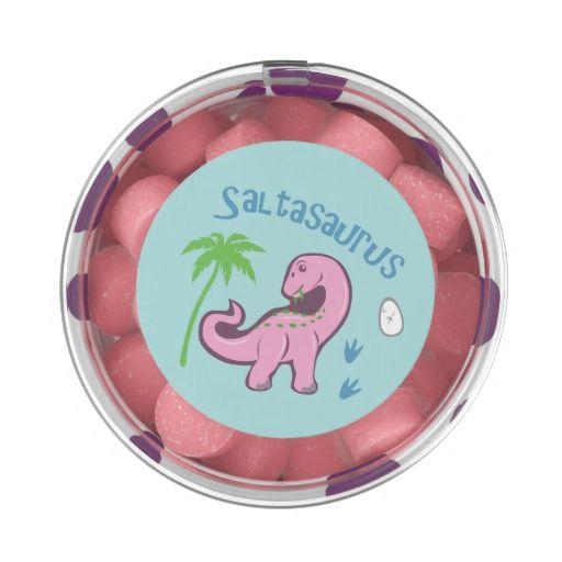 Cute Saltasaurus Chewing Gum #brontosaurus #pink #dinosaurs #animals #candy