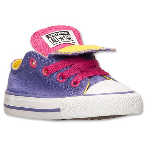 Girls' Toddler Converse Chuck Taylor All Star Double Tongue Casual Shoes | Finish Line | Hollyhock