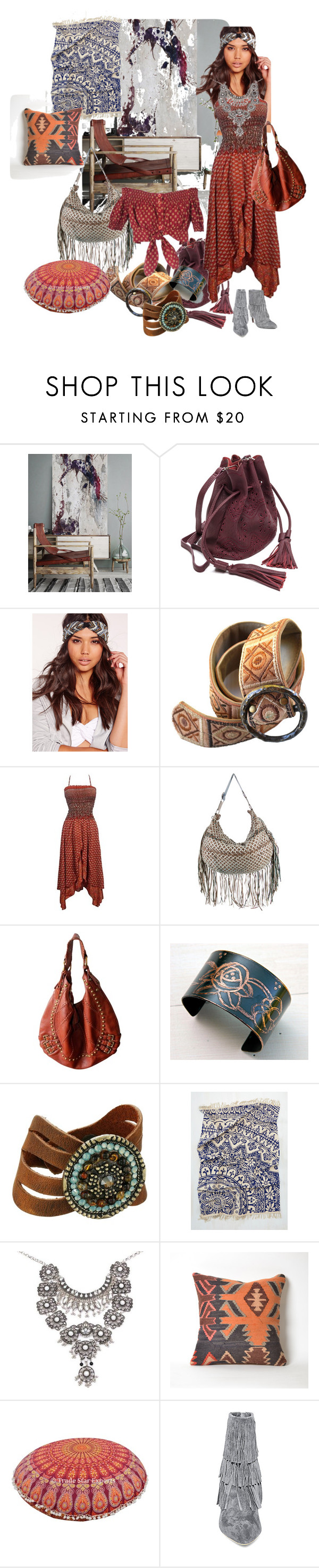 """""""Boho Inspired"""" by irenaorlov on Polyvore featuring Missguided, Marc Jacobs, Isabella Fiore, Gipsy, Leatherock, Steve Madden, boho, Bohemian and gypsy"""